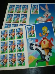 WARNER BROTHERS BUGS BUNNY AND SYLVESTER & TWEETY BIRD US POSTAGE STAMPS