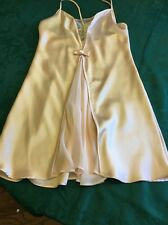 VALENTINO INTIMO Poly Satin Pink CHEMISE SHORT NIGHTGOWN S SAKS 5TH