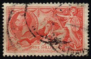 George V 1919 5s. rose-red, used (SG#416)