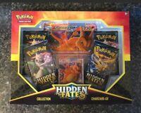 Pokemon Hidden Fates Charizard GX Box 4 Booster Packs Promo Card Sun & Moon NIB