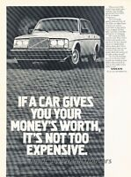 1981 Volvo Sedan GL - Original Advertisement Print Car Ad J457