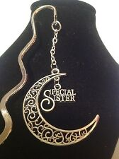 Special sister.. filligree book mark silver plated