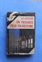 MASQUE JAQUETTE Poste de Police 152 JS Fletcher Un Passager pour Folkestone