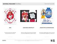 2020 National Treasures Football Live 1 Hobby Box Player Break #1
