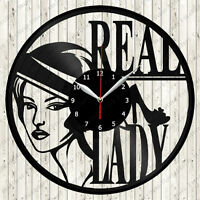 Real Lady Vinyl Wall Clock Made Of Vinyl Record Fan Art Handmade Best Gift #1