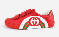 Gucci Ace Strap Interlocking GG Rainbow Red Men Sneakers G 6.5 - US 7 - EU 40.5