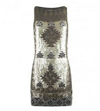 FABULOUSL PARTY ALL SAINTS SEQUIN PALOMA RACER BACK DRESS,SZ UK 8,EU 36,US4-NWOT