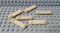 LEGO New Lot of 6 Tan 1x4 Plates with Edge Stud