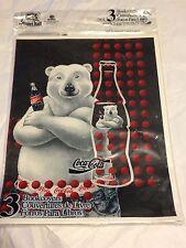 COCA-COLA Coke Polar Bear School Bookcover Set 1995 NEW IN PACKAGE RARE