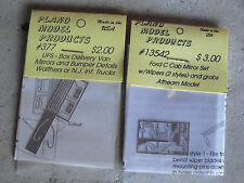 Lot of 2 HO Scale Plano Model Products Mirror Detail Pieces NIP