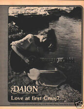 DAION GUITAR PINUP vtg 70s acoustic beautiful woman by water Love At First Cmaj7