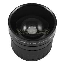 52 mm 52mm 0,21 X Lente Ojo De Pez Para Canon Nikon Sony Dslr