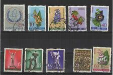 Yougoslavie 1961 10 timbres oblitérés  /T2133