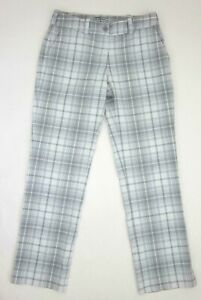 Women's Nike Golf Modern Rise Gray White Tartan Pants Size 6 508275-011 MINT!