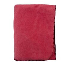 Red Flannel Fleece Soft Throw Blanket 50 x 70