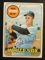 Pete Ward White Sox signed 1969 Topps baseball card #155 Auto Autograph 1