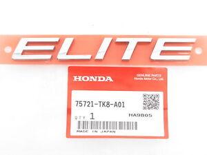 "Genuine Honda 75721-TK8-A01 ""ELITE"" Emblem Nameplate Badge 14-18 Pilot Odyssey"