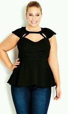 City Chic Plus Size Sleeveless Peplum Tops for Women