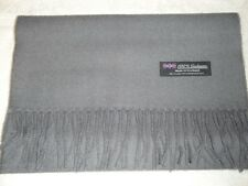 New 100% Cashmere Scarf Soft 72X12 Solid Grey Scotland Wool Men Wrap Plaid