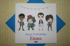 Handmade Personalised Stranger Things Birthday Card Any Age Brother Sister Son