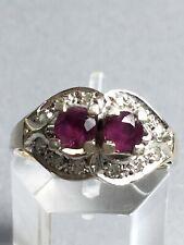 Rubin - Diamant - Ring, Weissgold 585