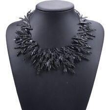 Women's Large Black Collar Bib Statement Fashion Necklace