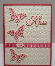Stampin Up! Fancy Fan Textured Impressions Embossing Folder –  New