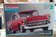 MONOGRAM  '57  CHEVY HARDTOP  1:24 SCALE BOX NOT SEALED