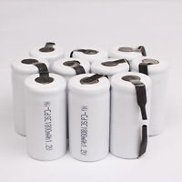10 X Sub C SC 1.2V 1800mAh Ni-Cd NiCd Rechargeable Battery