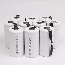 10 X Sub C SC 1.2V 1800mAh Ni-Cd NiCd Rechargeable Battery