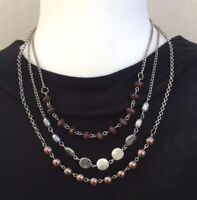 Paparazzi Jewelry Living The Glamorous Life Brown Necklace with Earrings  NIP