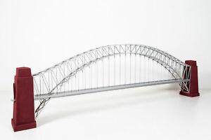 Giant HO Railroad Bridge, handmade around 1950, Iron w. extra parts