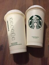 (2) Starbucks Reusable Plastic Grande Coffee Tea Cup Tumbler Recyclable Mug New