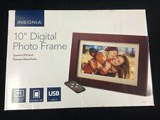 """NIB INSIGNIA - 10"""" WIDESCREEN LCD DIGITAL PHOTO FRAME - ESPRESSO- NS-DPF10WW-17"""