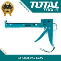 Total Tools CAULKING GUN Heavy Duty Silicone Sealant Applicator - Professional