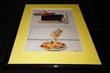 1987 Kraft Cheez Whiz Nachos Framed 11x14 ORIGINAL Vintage Advertisement