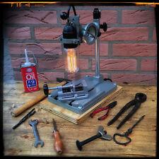 Tischlampe aus altem Bohrständer, Ideales Geschenk für den Heimwerker - Unikat