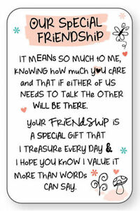 OUR SPECIAL FRIENDSHIP WALLET CARD INSPIRED WORDS Purse Keepsake Present Gift💕