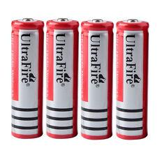 4PCS 3800mAh 3.7V 18650 Rechargeable Li-on Battery for Headlamp Flashlight Torch