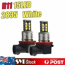 2 x White 15LED 2835SMD H11 Car 4X4 Fog Driving Led Light Headlight Lamp Bulb