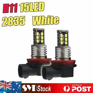2 x 15LED 2835SMD H11 Car Fog Driving Led Light Headlight DRL Lamp Bulb White