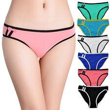 Pack 1/3/6 Womens Cotton Underwear Ladies Low Rise Cute Briefs Panties Knickers