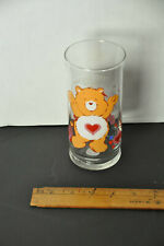 Care Bear TENDER HEART Drinking Glass Pizza Hut Promo Collector's Series Limited