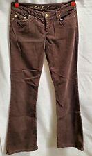 Juicy Couture Women's Brown Corduroy Jeans Pants  Sz.31X33   A25