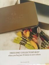 DMC Stranded Cotton, New Colours, Set Of 10 With Free Collectors Box.