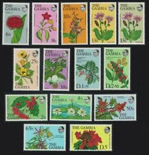 Gambia Flowers and Shrubs 14v COMPLETE MNH SG#371-383 MI#345-357