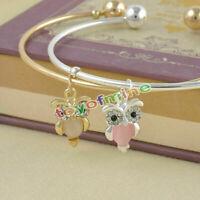 Un braccialetto Gufo Argento/oro mano Harness Bracciale & Anello ARMOUR