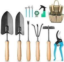 Garden Tools Set, 12 Pieces Gardening Tools Ergonomic Comfortable Handle and