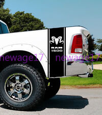 Hemi Dodge Cow Skull 1500 Ram Rear Bed Stripes Truck Decals Stickers Set of 2