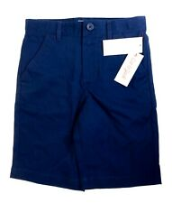 Cat & Jack Boys Size 10 Cotton School Uniform Chino Shorts Pockets Navy Voyage